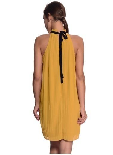Vero Moda Elbise Altın